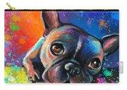 Whimsical Colorful French Bulldog  Carry-all Pouch by Svetlana Novikova
