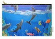 Whimsical Original Painting Undersea World Tropical Sea Life Art By Madart Carry-all Pouch