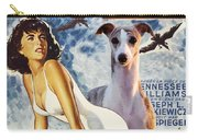 Whippet Art - Suddenly Last Summer Movie Poster Carry-all Pouch