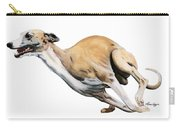 Whippet In The Wind Carry-all Pouch