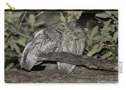 Whiskered Screech Owls Carry-all Pouch