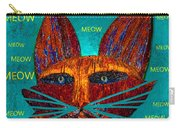 Whiskers Meowing Carry-all Pouch