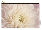 Whispering White Floral Carry-all Pouch