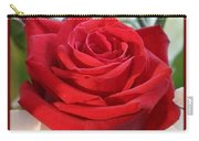 Whispers Of Passion And Love Red Rose Greeting Card  Carry-all Pouch