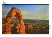 Whispy Clouds Over Delicate Arch Carry-all Pouch