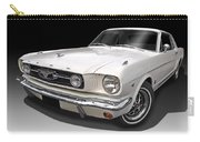 White 1966 Mustang Carry-all Pouch