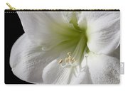 White Amaryllis Carry-all Pouch by Adam Romanowicz