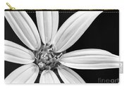 White And Black Flower Close Up Carry-all Pouch