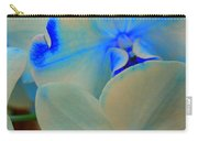 White And Blue Orchid Carry-all Pouch