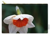 White And Orange Daffodil Carry-all Pouch