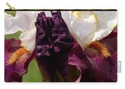 White And Purple Iris Carry-all Pouch