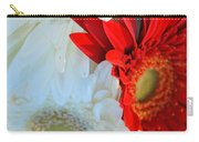 White And Red Flowers Carry-all Pouch