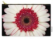 White And Red Gerbera Daisy Carry-all Pouch