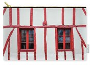 White And Red Half-timbered House Detail Carry-all Pouch