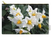Garden Blossoms White And Yellow Garden Blossoms Carry-all Pouch
