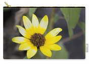 White And Yellow Sunflower Carry-all Pouch