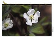 White Anemone Flowers Carry-all Pouch