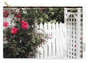 White Arbor With Red Roses Carry-all Pouch by Elena Elisseeva
