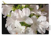 White Azalea Bouquet In Glass Vase Carry-all Pouch