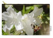 White Azalea With Friend Carry-all Pouch