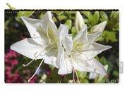White Azaleas Carry-all Pouch