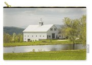 White Barn On Farm In Maine Fine Art Prints Carry-all Pouch