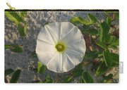 White Beach Flower Carry-all Pouch
