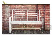 White Bench Carry-all Pouch