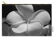 White Bloom B W Carry-all Pouch