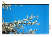 White Blossoms Blue Sky Carry-all Pouch