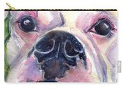 White Boxer Carry-all Pouch