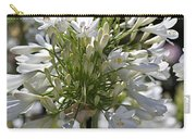 White Bright Agapanthus Carry-all Pouch