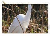 White Brilliance Of The Egret Carry-all Pouch