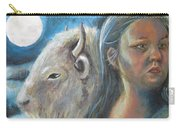 White Buffalo Portrait Carry-all Pouch