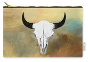 White Buffalo Skull Carry-all Pouch