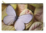 White Butterfly On Poinsettia Carry-all Pouch