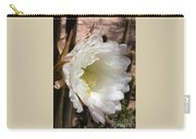 White Cactus Bloom Carry-all Pouch