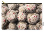 White Cactus Pink Flowers No1 Carry-all Pouch