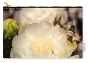 White Cactus Rose Carry-all Pouch