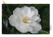 Snow White Camellia Carry-all Pouch