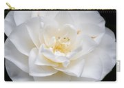 White Camellia Flower Carry-all Pouch