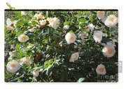 White Camellias Carry-all Pouch by Carol Groenen