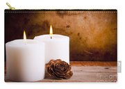 White Candles With Rose Carry-all Pouch