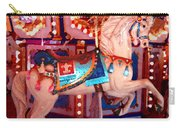 White Carousel Horse Carry-all Pouch
