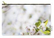 White Cherry Blossom Flowers  Carry-all Pouch