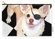 White Chihuahua - Pistachio Carry-all Pouch