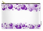 White Christmas Background With Purple Balls. Carry-all Pouch