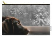 White Christmas Carry-all Pouch by Lori Deiter