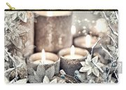 White Christmas Carry-all Pouch by Mo T
