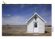 White Church Chapel  On Prairie Carry-all Pouch